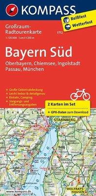 Kompass Großraum-Radtourenkarte Bayern Süd, 2 Bl.