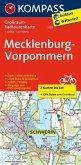 Kompass Großraum-Radtourenkarte Mecklenburg-Vorpommern, 2 Bl.