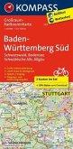 Kompass Großraum-Radtourenkarte Baden-Württemberg Süd, 2 Bl.
