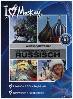 Die wichtigsten 1000 Wörter Russisch, 2 Audio/mp3-CDs + Begleitheft