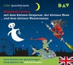 Englisch lernen mit dem kleinen Gespenst, der kleinen Hexe und dem kleinen Wassermann, 3 Audio-CDs