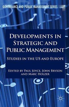 Developments in Strategic and Public Management (eBook, PDF)