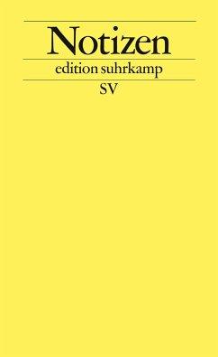 Notizbuch edition suhrkamp gelb