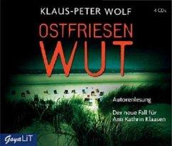 Ostfriesenwut / Ann Kathrin Klaasen ermittelt Bd.9 (4 Audio-CDs) - Wolf, Klaus-Peter