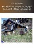 Selbstbau eines energieunabhängigen Rusticos (Blockhaus) im Berggebiet