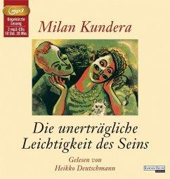 Die unerträgliche Leichtigkeit des Seins, 2 MP3-CDs - Kundera, Milan