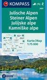 KOMPASS Wanderkarte Julische Alpen/Julijske alpe, Steiner Alpen/Kamniske alpe