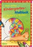 Mein dicker Kindergarten-Malblock. Von Punkt zu Punkt