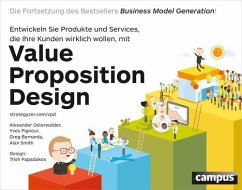 Value Proposition Design (eBook, PDF) - Osterwalder, Alexander; Pigneur, Yves; Bernarda, Greg; Smith, Alan