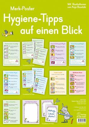 hygiene tipps auf einen blick 12 a3 poster fachbuch. Black Bedroom Furniture Sets. Home Design Ideas