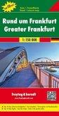 Freytag & Berndt Auto + Freizeitkarte Rund um Frankfurt, Top 10 Tips 1:150.000; Greater Frankfurt / Autour de Francfort