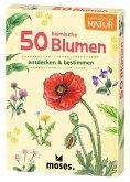 Moses MOS09717 - Expedition Natur: 50 heimische Blumen, Lernkarten
