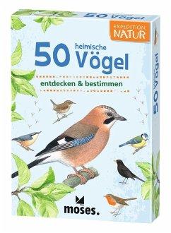 Moses MOS09715 - Expedition Natur: 50 heimische Vögel, Lernkarten