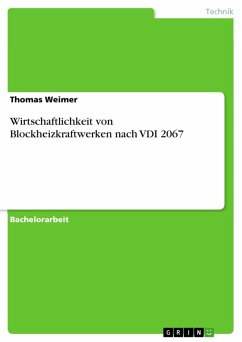 Wirtschaftlichkeit von Blockheizkraftwerken nach VDI 2067 (eBook, PDF) - Weimer, Thomas