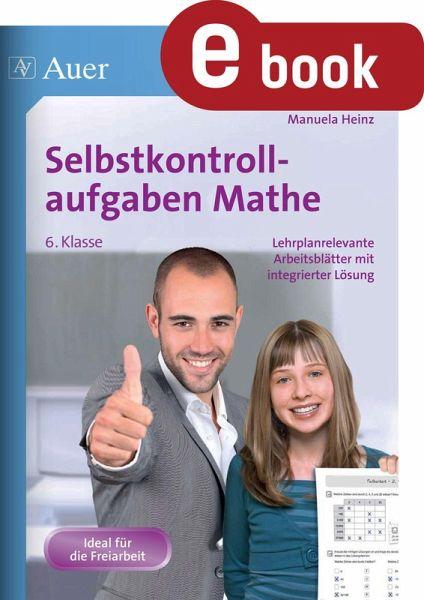 Selbstkontrollaufgaben Mathematik Klasse 6 (eBook, PDF) von Manuela ...