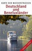 Karte der Wasserstraßen - Deutschland und Beneluxländer