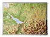 Region Allgäu, Bodensee, Reliefkarte, Klein