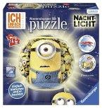 Ravensburger 12168 - Minions, Puzzle Ball mit Nachtlicht, 3D, 72 Teile