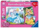 Ravensburger 09346 - Belle, Cinderella und Rapunzel, Puzzle 3 x 49 Teile