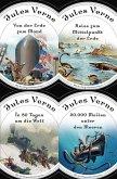 Jules Verne - Romane (20.000 Meilen unter den Meeren - In 80 Tagen um die Welt - Reise zum Mittelpunkt der Erde - Von der Erde zum Mond) (eBook, ePUB)
