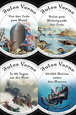Jules Verne - Romane (20.000 Meilen unter den Meeren - In 80 Tagen um die Welt - Reise zum Mittelpunkt der Erde - Von der Erde zum Mond) (eBook, ePUB) - Verne, Jules