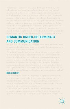 Semantic Under-determinacy and Communication (eBook, PDF)
