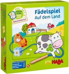 Haba 5580 - Meine erste Spielwelt Bauernhof: Fädelspiel auf dem Land