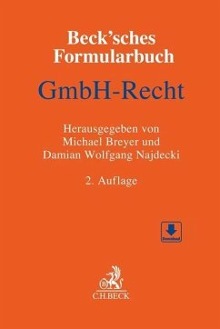 Beck´sches Formularbuch GmbH-Recht
