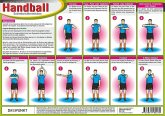 Handball - Schiedsrichterzeichen, Info-Tafel