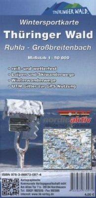 KKV Wintersportkarte Thüringer Wald, Ruhla - Großbreitenbach