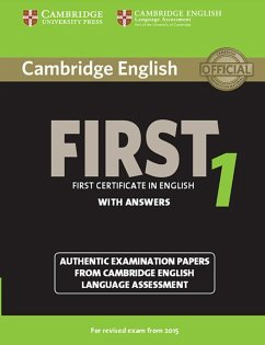 Cambridge English First 1 for updated exam. Student's Book with answers