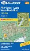 Tabacco topographische Wanderkarte Alto Garda-Ledro - Monte Baldo Nord