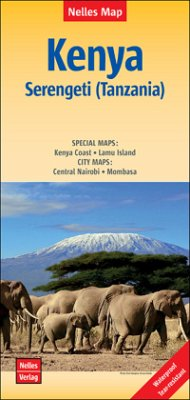 Nelles Map Kenya, Serengeti (Tanzania), Polyart-Ausgabe