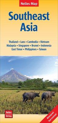 Nelles Maps Southeast Asia, Polyart-Ausgabe; Sü...
