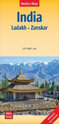 Nelles Map India - Ladakh, Zanskar, Polyart-Aus...