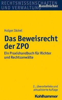 Das Beweisrecht der ZPO (eBook, PDF) - Jäckel, Holger