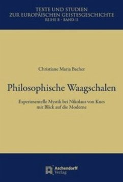 Philosophische Waagschalen - Bacher, Christiane