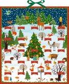Bunte Winter-Weihnachts-Tierwelt