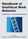 Handbook of Unethical Work Behavior: (eBook, PDF)