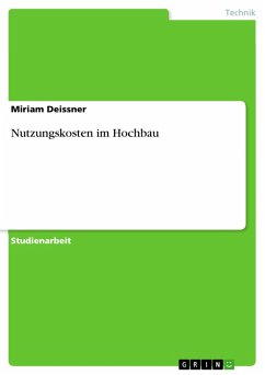 Nutzungskosten im Hochbau (eBook, PDF)