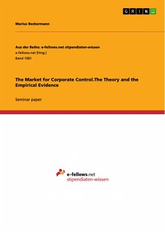 The Market for Corporate Control.The Theory and the Empirical Evidence (eBook, PDF)