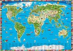 Erlebniskarte illustrierte Weltkarte, Planokarte