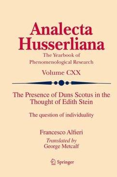 The Presence of Duns Scotus in the Thought of Edith Stein - Alfieri, Francesco