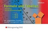 Formeln und Tabellen - Metallbau, Konstruktionsmechanik