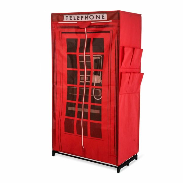 miavilla kleiderschrank telephone rot portofrei bei b. Black Bedroom Furniture Sets. Home Design Ideas