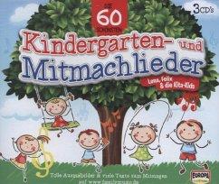 Die 60 schönsten Kindergarten- und Mitmachlieder, 3 Audio-CDs - Lena, Felix & die Kita-Kids