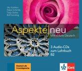 3 Audio-CDs zum Lehrbuch B2 / Aspekte NEU - Mittelstufe Deutsch