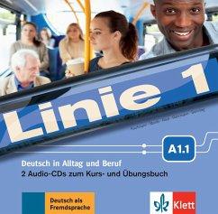 2 Audio-CDs zum Kurs- und Übungsbuch A1.1 / Linie 1 - Kaufmann, Susan; Moritz, Ulrike; Rodi, Margret; Rohrmann, Lutz; Sonntag, Ralf; Harst, Eva; Scherling, Theo