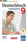 Deutschbuch 9. Schuljahr. Arbeitsheft mit Lösungen und Übungs-CD-ROM. Gymnasium Niedersachsen