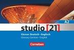 studio [21] - Grundstufe A2: Gesamtband. Glossar Deutsch-Englisch